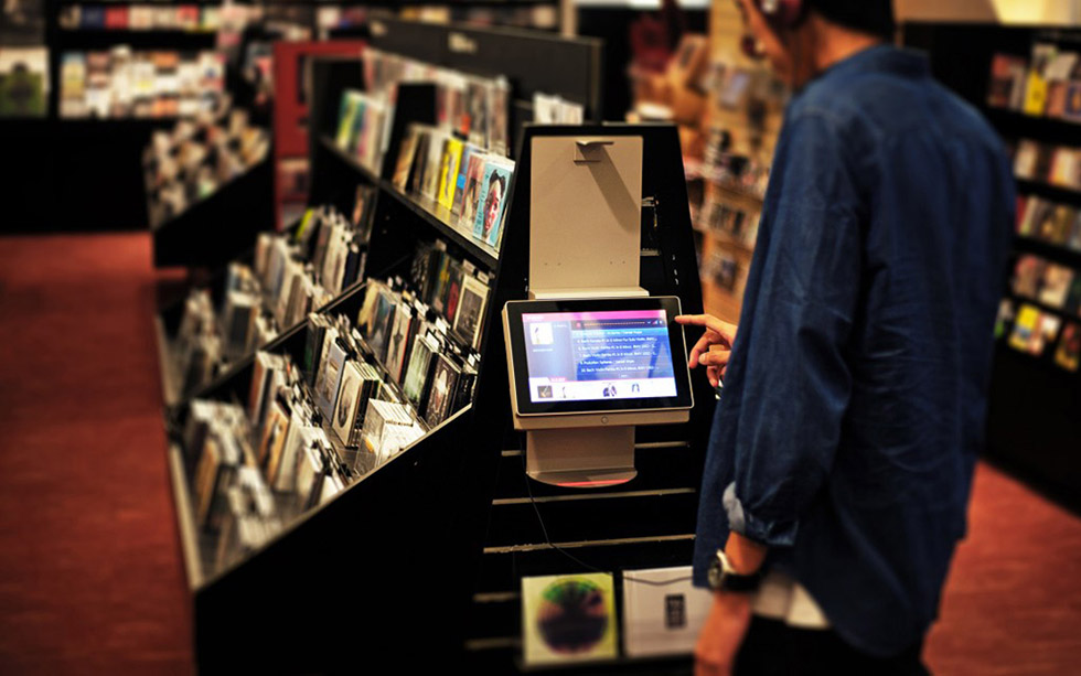 retail digital signage : Eslite music audition kiosk